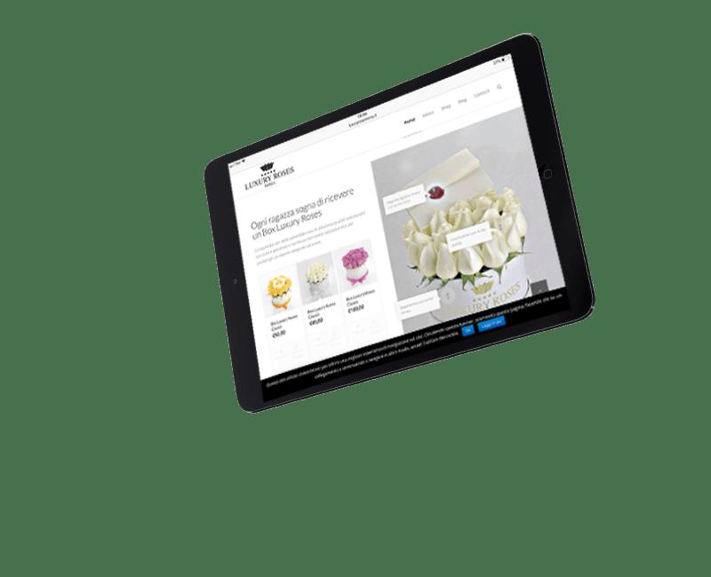 New IT - realizzazione sito web per Luxury Roses Roma